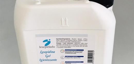Sanificante gel mani 5 Lt